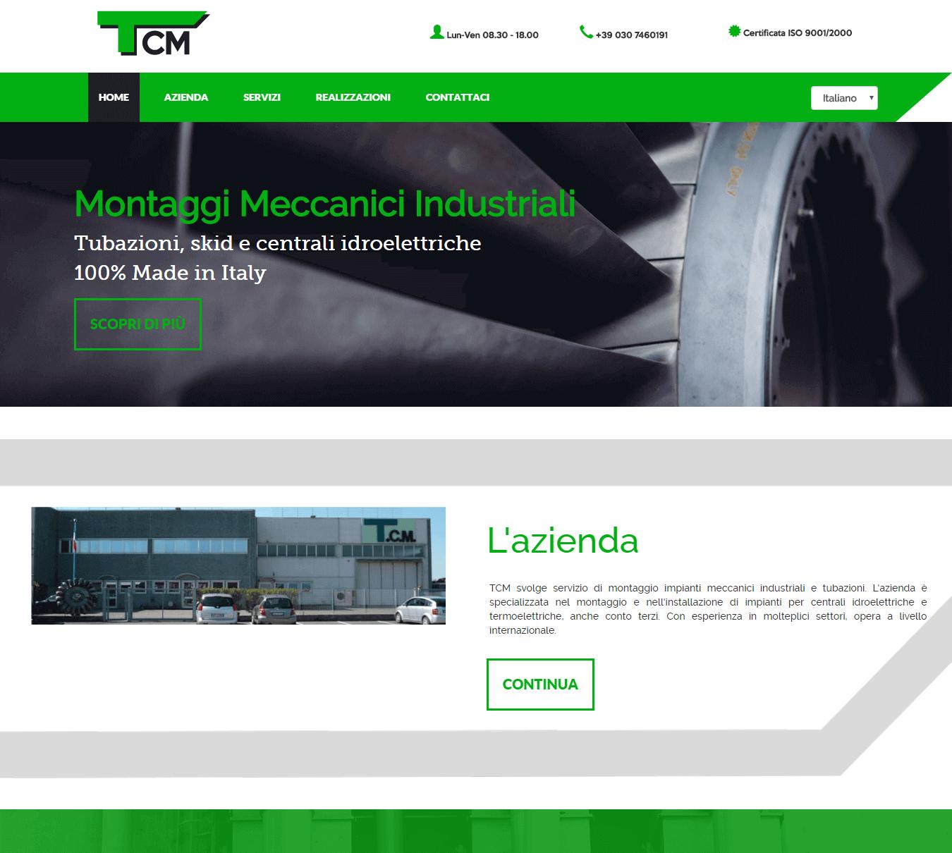 Sito Web Responsive TcMontaggi